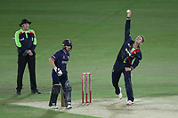 Joe Denly in bowling action for Kent during Kent Spitfires vs Essex Eagles, Vitality Blast T20 Cricket at the St Lawrence Ground on 2nd August 2018