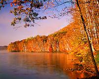 Sunrise light on Thirteenth Lake; Siamese Ponds Wilderness; Adirondack and Preserve, NY