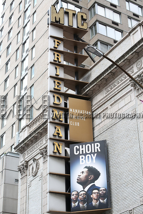 """Theatre Marquee unveiling for the Manhattan Theatre Club production of """"Choir Boy"""" written by Tarell Alvin McCraney and directed by Trip Cullman at the Samuel J. Friedman Theatre on November 28, 2018 in New York City."""