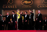 www.acepixs.com<br /> <br /> May 21 2017, Cannes<br /> <br /> (L-R) Actor Dustin Hoffman, director Noah Baumbach, actress Emma Thompson, actor Ben Stiller and actor Adam Sandler arriving at the premiere of 'The Meyerowitz Stories' during the 70th annual Cannes Film Festival at Palais des Festivals on May 21, 2017 in Cannes, France<br /> <br /> By Line: Famous/ACE Pictures<br /> <br /> <br /> ACE Pictures Inc<br /> Tel: 6467670430<br /> Email: info@acepixs.com<br /> www.acepixs.com