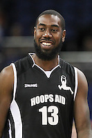 Orlan Jackman Basketball Player during Hoops Aid 2015 Celebrity AllStars Basketball Match at the o2 Arena, London, England on 10 May 2015. Photo by Andy Rowland.