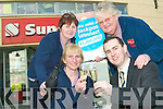 Having a lotto-fun celebrating the EUR1M lottery win were staff of Garvey's Listowel, where the mystery winner bought their ticket. Pictured were Josephine Cronin and Paul O'Connor with Kay Fitzgerald and Maura Keane.