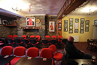 FAO STEWART HUNTER, DAILY MAIL SPORTS PICTURE DESK<br />Pictured: Shane Williams and other rugby related memorabilia in the Amman United RFC clubhouse in Cwmamman, Wales, UK. Thursday 13 April 2017<br />Re: Former Wales international rugby player Shane Williams is to make another comeback as part of the Amman United team that contests a final at the Principality Stadium in Cardiff on Saturday.<br />40 year old Williams, Wales' record try scorer has been named in his local village side that will take on Caerphilly in the National Bowl final, having recovered from a fractured jaw in the semi-final win against Cardigan after almost five years since Williams last played for the Barbarians against Wales.<br />He retired from the Test scene after a defeat to Australia in 2011, immediately after Wales had reached the semi-final of the World Cup of that year.