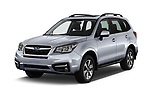 2017 Subaru Forester Comfort 5 Door Wagon Angular Front stock photos of front three quarter view