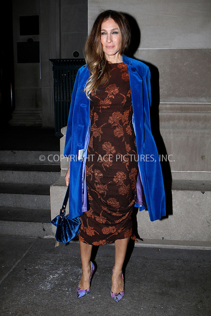 WWW.ACEPIXS.COM....December 4 2012, Ndew York City....SAarah Jessica Parker arriiving at HBO's In Vogue: The Editor's Eye screening at Metropolitan Museum of Art on December 4, 2012 in New York City....By Line: Nancy Rivera/ACE Pictures......ACE Pictures, Inc...tel: 646 769 0430..Email: info@acepixs.com..www.acepixs.com