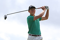 Patrick Naughton (Limerick) on the 10th tee during the Final round in the Connacht U16 Boys Open 2018 at the Gort Golf Club, Gort, Galway, Ireland on Wednesday 8th August 2018.<br /> Picture: Thos Caffrey / Golffile<br /> <br /> All photo usage must carry mandatory copyright credit (&copy; Golffile   Thos Caffrey)