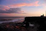 Sunset at Lighthouse Point in Santa Cruz