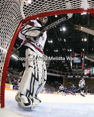 Nauris Enkuzens (Latvia - 1) - Slovakia defeated Latvia 7-2 on Saturday, December 27, 2008, at the Ottawa Civic Centre Arena in Ottawa, Ontario, during the 2009 World Junior Championship.