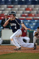 March 21, 2010:  Designated Hitter Ed Kohout (4) of the Genesee Community College Cougars during a game at Holman Stadium at Dodgertown in Vero Beach, FL.  Photo By Mike Janes/Four Seam Images