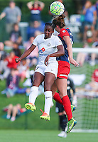 Boyds, MD - Saturday July 02, 2016: Tiffany McCarty, Alyssa Kleiner during a regular season National Women's Soccer League (NWSL) match between the Washington Spirit and FC Kansas City at Maureen Hendricks Field, Maryland SoccerPlex.