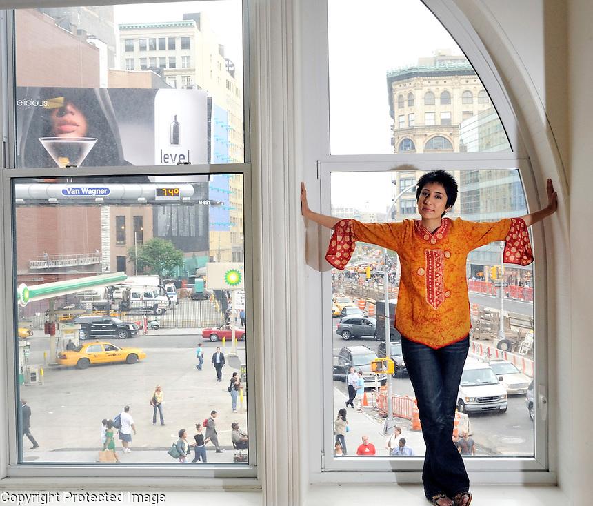 USA. New York. 4th June 2008..Irshad Manji at New York University, Manhattan..©Andrew Testa