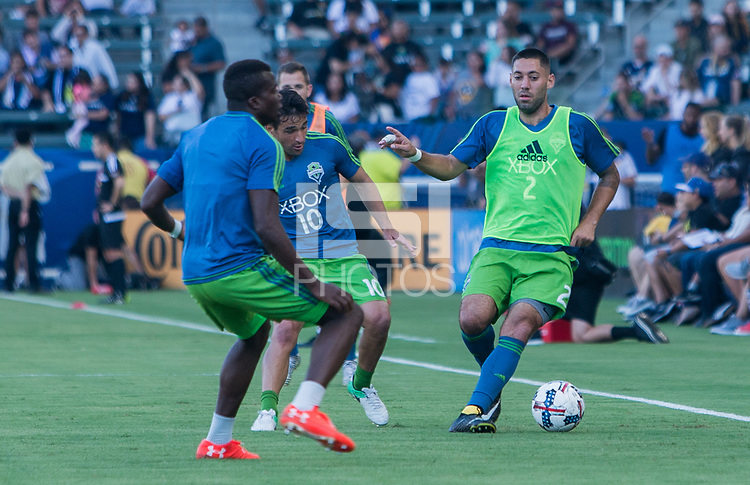 Carson, CA - Saturday July 29, 2017: Clint Dempsey during a Major League Soccer (MLS) game between the Los Angeles Galaxy and the Seattle Sounders FC at StubHub Center.