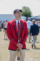 Henley on Thames, United Kingdom, 6th July 2018, Friday, View,&quot; Y Quad Cities&quot;, coach, Peter SHARIS, <br />  &quot;Third day&quot;, of the annual,  &quot;Henley Royal Regatta&quot;, Henley Reach, River Thames, Thames Valley, England, &copy; Peter SPURRIER,