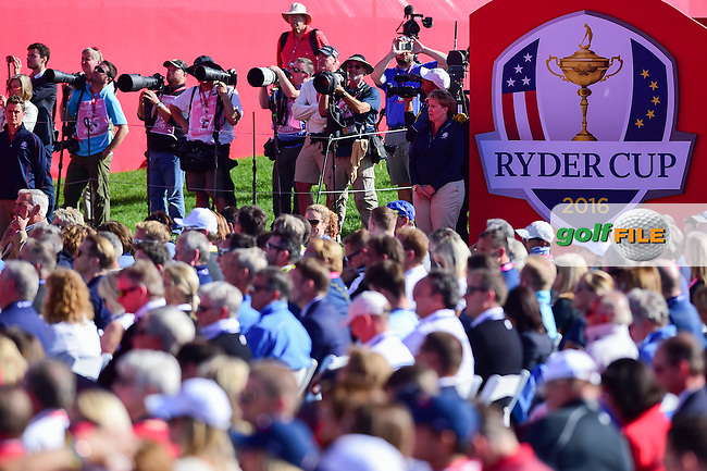during the Opening Ceremony at the Ryder Cup, Hazeltine National Golf Club, Chaska, Minnesota, USA.  9/29/2016<br /> Picture: Golffile | Ken Murray<br /> <br /> <br /> All photo usage must carry mandatory copyright credit (&copy; Golffile | Ken Murray)