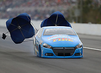 Mar 16, 2019; Gainesville, FL, USA; NHRA pro stock driver Alan Prusiensky during qualifying for the Gatornationals at Gainesville Raceway. Mandatory Credit: Mark J. Rebilas-USA TODAY Sports