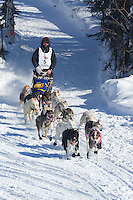 Tom Thurston on Long Lake at the Re-Start of the 2012 Iditarod Sled Dog Race