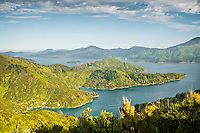 Kenepuru Sounds - Marlborough Sounds, New Zealand Twilight over Queen Charlotte Sound, Marlborough Sounds, New Zealand
