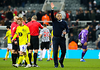 Blackburn Rovers manager Tony Mowbray applauds the fans after the match<br /> <br /> Photographer Alex Dodd/CameraSport<br /> <br /> Emirates FA Cup Third Round - Newcastle United v Blackburn Rovers - Saturday 5th January 2019 - St James' Park - Newcastle<br />  <br /> World Copyright &copy; 2019 CameraSport. All rights reserved. 43 Linden Ave. Countesthorpe. Leicester. England. LE8 5PG - Tel: +44 (0) 116 277 4147 - admin@camerasport.com - www.camerasport.com