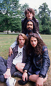 Soundgarden portraits (B-F: Ben Shepherd, Kim Thayil, Matt Cameron, Chris Cornell) - photographed in Hyde Park London  - August 1991.  Photo by: Tony Mott / IconicPix