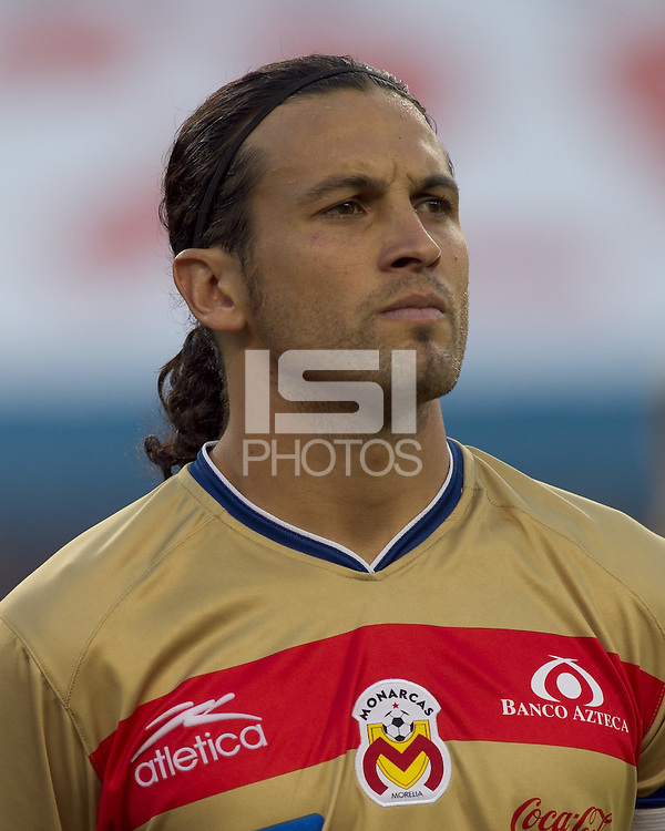 Monarcas Morelia defender Mauricio Romero (26). Monarcas Morelia defeated the New England Revolution, 2-1, in the SuperLiga 2010 Final at Gillette Stadium on September 1, 2010.