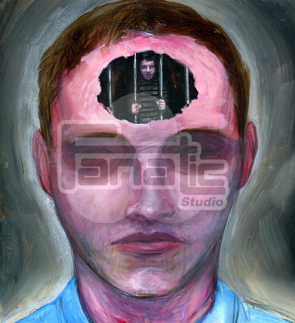 Illustration of prisoner of mind