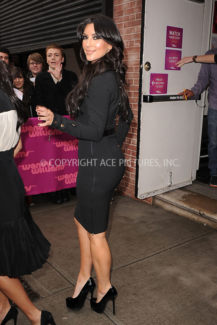 WWW.ACEPIXS.COM . . . . . .January 19, 2011...New York City...Kim Kardashian visits the Wendy Williams Show on January 19, 2011 in New York City....Please byline: KRISTIN CALLAHAN - ACEPIXS.COM.. . . . . . ..Ace Pictures, Inc: ..tel: (212) 243 8787 or (646) 769 0430..e-mail: info@acepixs.com..web: http://www.acepixs.com .