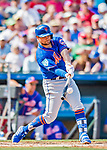 28 February 2019: New York Mets infielder J.D. Davis connects for a double in the 5th inning of a Spring Training game against the St. Louis Cardinals at Roger Dean Stadium in Jupiter, Florida. The Mets defeated the Cardinals 3-2 in Grapefruit League play. Mandatory Credit: Ed Wolfstein Photo *** RAW (NEF) Image File Available ***