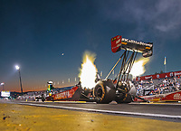 Nov 9, 2018; Pomona, CA, USA; NHRA top fuel driver Richie Crampton during qualifying for the Auto Club Finals at Auto Club Raceway. Mandatory Credit: Mark J. Rebilas-USA TODAY Sports
