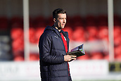 2nd February 2019, Hope CBD Stadium, Hamilton, Scotland; Ladbrokes Premiership football, Hamilton Academical versus Dundee; Cammy Kerr of Dundee walks on the pitch before the match
