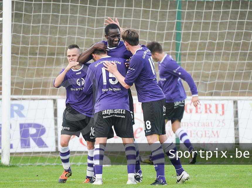 Zwevegem Sport - FC Helkijn : vreugde bij Helkijn na de 1-1 gelijkmaker <br /> foto VDB / BART VANDENBROUCKE
