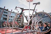 Roof-racked-Ridley<br /> <br /> 72nd Dwars Door Vlaanderen (1.UWT)<br /> 1day race: Roeselare &rsaquo; Waregem BEL (203.4km)