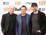 Ed Harris, Mark Raso and Jason Sudeikis attend the 'Kodachrome' Premiere during the 2017 Toronto International Film Festival at Princess of Wales Theatre on September 8, 2017 in Toronto, Canada.