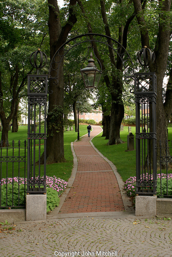Entrance to the Loyalist Burial Ground in the city of Saint John, New Brunswick, Canada