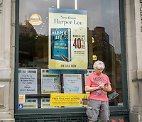 "Advertising on the exterior of a Barnes & Noble bookstore in New York on the release date of ""Go Set a Watchman"" by Harper Lee on Tuesday, July 14, 2015. The famed Pulitzer Prize winning author Harper Lee's  second novel, ""Go Set A Watchman"" is a sequel to ""To Kill a Mockingbird"" published 50 years ago. Watchman was actually written prior to Mockingbird and was recently found after being thought lost. (© Richard B. Levine)"