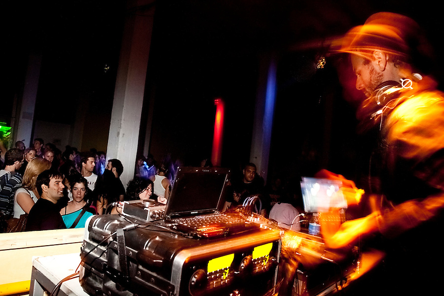 "DJ ""El G"" playing at Zizek Club party with Pena Electrica at Konex in Buenos Aires, March 12, 2010"