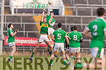 Jack Barry Kerry in action against David Ward Limerick in the Final of the McGrath Cup at the Gaelic Grounds on Sunday.