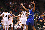 MILWAUKEE, WI - MARCH 16: Middle Tennessee Blue Raiders guard Edward Simpson (11) celebrates during the second half of the 2017 NCAA Men's Basketball Tournament held at BMO Harris Bradley Center on March 16, 2017 in Milwaukee, Wisconsin. (Photo by Jamie Schwaberow/NCAA Photos via Getty Images)