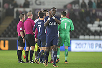 Moussa Sissoko of Spurs applauds the support during the Premier League match between Swansea City and Tottenham Hotspur at the Liberty Stadium, Swansea, Wales on 2 January 2018. Photo by Mark Hawkins / PRiME Media Images.