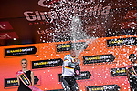 German Champion Pascal Ackermann (GER) Bora-Hansgrohe wins Stage 2 of the 2019 Giro d'Italia, running 205km from Bologna to Fucecchio, Italy. 12th May 2019<br /> Picture: Marco Alpozzi/LaPresse | Cyclefile<br /> <br /> All photos usage must carry mandatory copyright credit (© Cyclefile | Marco Alpozzi/LaPresse)