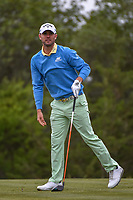 Wesley Bryan (USA) watches his tee shot on 15 during Round 2 of the Valero Texas Open, AT&amp;T Oaks Course, TPC San Antonio, San Antonio, Texas, USA. 4/20/2018.<br /> Picture: Golffile | Ken Murray<br /> <br /> <br /> All photo usage must carry mandatory copyright credit (&copy; Golffile | Ken Murray)
