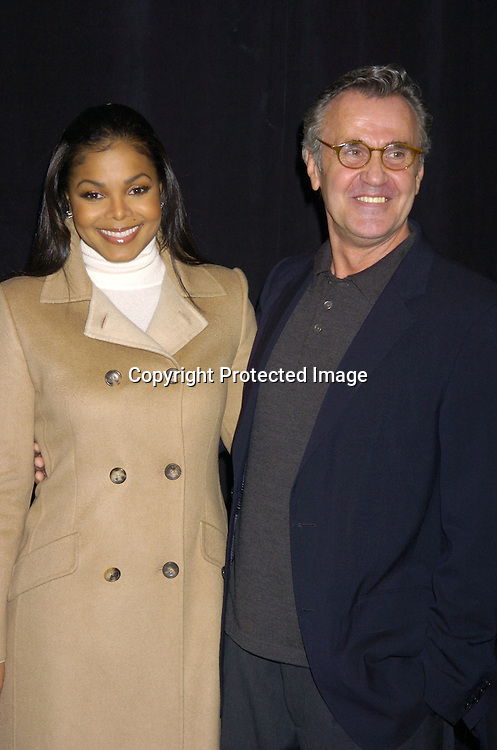 Janet Jackson and Michael Volbracht ..at The Bill Blass Fall 2005 Fashion Show on February 8, 2005  at The Tents in Bryant Park.  Michael Volbracht is the designer. ..Photo by Robin Platzer, Twin Images