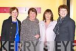 Ann Wrenn, Doreen Brosnan, Noreen O'Sullivan and Kathleen O'Sullivan enjoying the Beaufort Rambling House in Beaufort Community hall on Saturday night