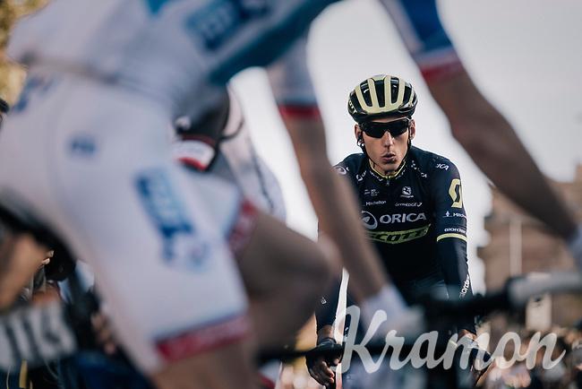 Carlos Verona (ESP/ORICA-Scott) on his way to sign-on<br /> <br /> Il Lombardia 2017<br /> Bergamo to Como (ITA) 247km