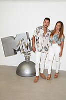 "Cameron Fallon and Shereece Maracantonio<br /> at launch photocall for MTV's ""True Love or True Lies?"", London<br /> <br /> ©Ash Knotek  D3417  07/08/2018"