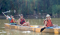 NWA Democrat-Gazette/FLIP PUTTHOFF <br /> Bubbles float Aug. 2 2018 on a gentle Mississippi River breeze.