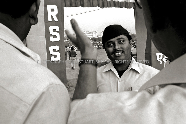 Calcutta, India..RSS rally held in downtown Calcutta...©2003 Stuart Isett.All rights reserved
