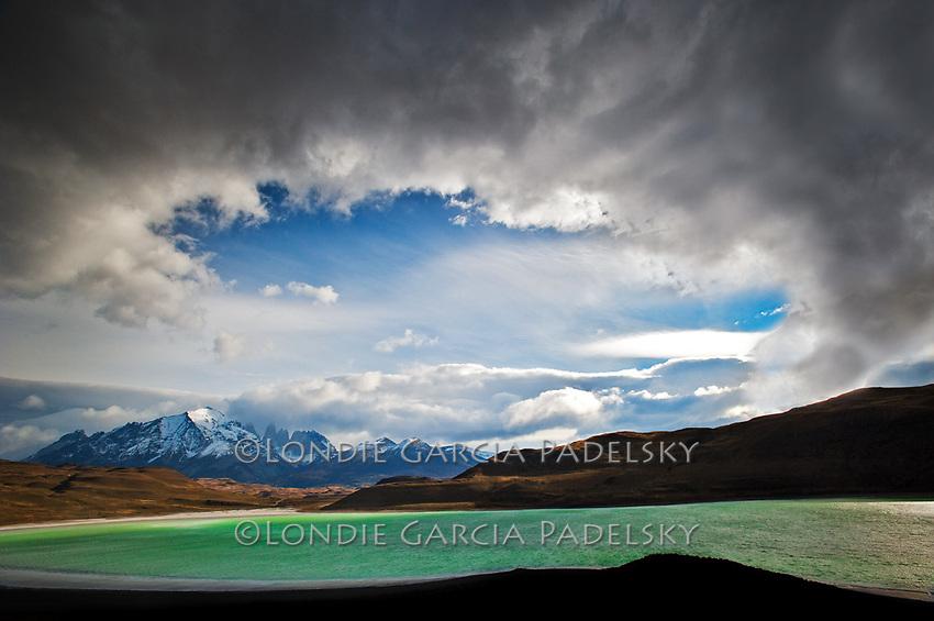 Lago Amarga, bordering Torres Del Paine National Park, Chile