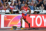 Jamal Walton (CAY) in the mens 400m. IAAF world athletics championships. London Olympic stadium. Queen Elizabeth Olympic park. Stratford. London. UK. 06/08/2017. ~ MANDATORY CREDIT Garry Bowden/SIPPA - NO UNAUTHORISED USE - +44 7837 394578