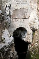 Parco tematico della Grande Guerra di Monfalcone. Trincea Joffre, una lunga trincea costruita dall'esercito austro-ungarico e rafforzata in cemento armato dagli italiani quando conquistarono il territorio. La grotta vergine, una grotta naturale scoperta e inglobata nella trincea,a' una grotta naturale molto profonda che servi' da riparo per centinaia di soldati<br /> Joffre Trench, dug by the Austro-Hungarian Army and reinforced with concrete by the italian troops once they 'took' the zone. A natural cave, discovered during the building of the trenches, was a shelter for hundreds of soldiers<br /> Monfalcone 03-09-2014 Lungo tutto il confine del Friuli Venezia Giulia, e nella fattispecie nella zona del Carso isontino, si snoda quello che durante la Prima Guerra Mondiale, o Grande Guerra, era chiamato il fronte orientale, conteso tra l'esercito italiano e quello austro-ungarico. La zona del fiume Isonzo, obiettivo strategico, fu teatro di ben 11 battaglie e di una estenuante guerra di posizione, costata la vita migliaia di soldati. Numerose sono ancora le testimonianze di quei terribili giorni sulle colline isontine, per cui, con i patrocinio della comunità' europea, sono stati costituiti dei veri 'musei all' aperto' con percorsi che permettono di visitare i luoghi più' importanti di quelle battaglie.<br /> Along the northern borders of Friuli Venezia Giulia, Italy, was part of the called Eastern Front during the 'World War I' also said the 'Great War'. The Isonzo river, a strategic target, was theatre of 11 battles between italian and Austro-Hungarian troops, where hundred thousand soldiers lost their lives. <br /> To remember that war, a series of 'open air museums' where established, along the most important places where the battles took place and where is still possible to see trenched systems, hospitals, mass graves, barbed wire ecc.<br /> Photo Samantha Zucchi Insidefoto