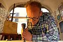 26/12/06 - THIERS - PUY DE DOME - FRANCE - Yves GUYOT, artisan gnomonique. Art de construire des cadrans solaires - Photo Jerome CHABANNE
